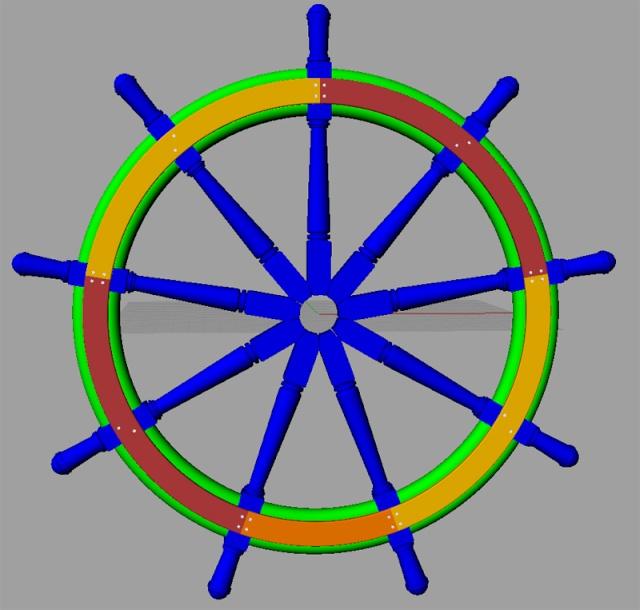 Le double roue du gouvernail C_ruot11