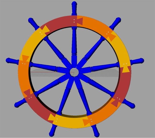 Le double roue du gouvernail E_ruot11
