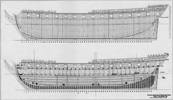 HMS DIANA fregata inglese da 38 cannoni Lavenu10