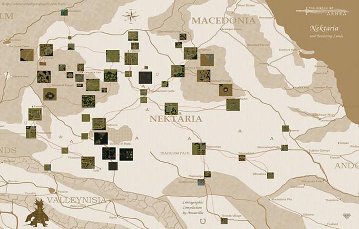 Maps of Aenea by Amaerillie Ama_ne12