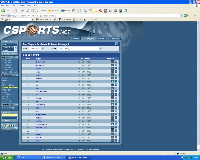 Look at me ma. im top of the WORLD lol, this is my claim to fame :) Emc2_t11