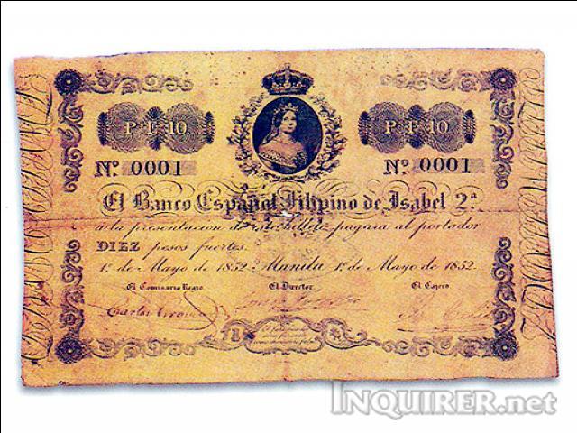 Banco Español Filipino de Isabel II 0001 110