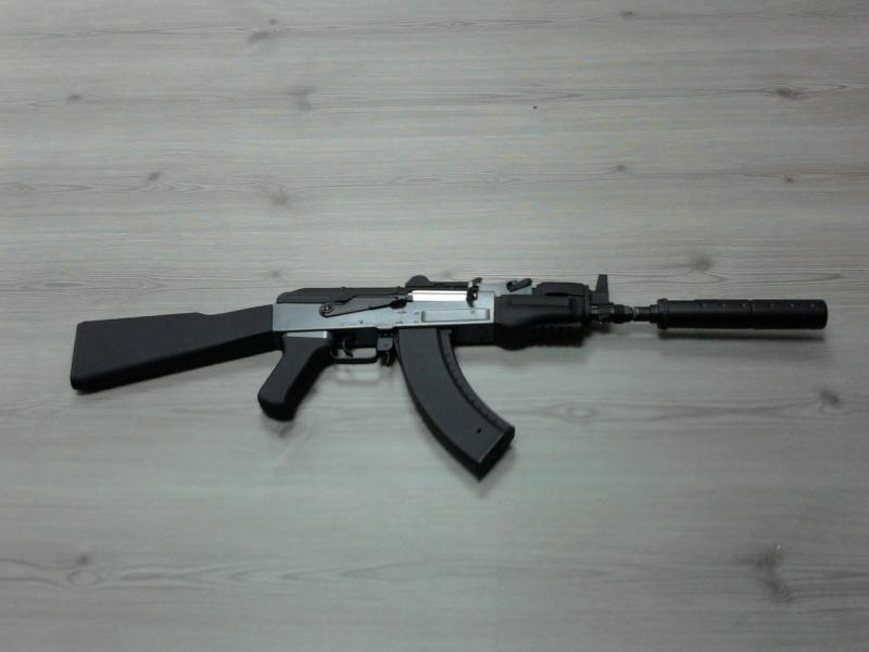 silencieux sur un AK 47 spetsnaz Photo014