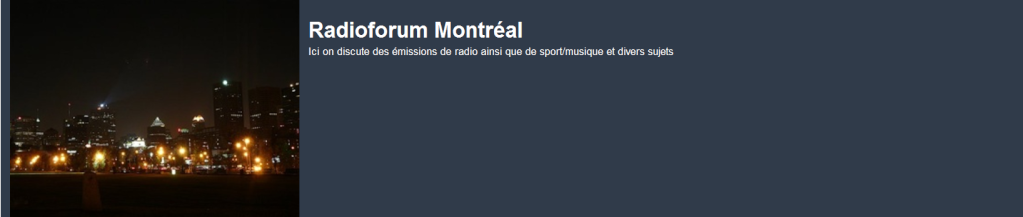 Forum Radio Montreal