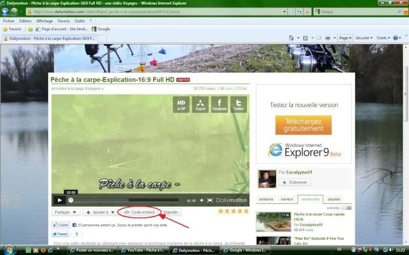 Mettre des videos sur le forum For110