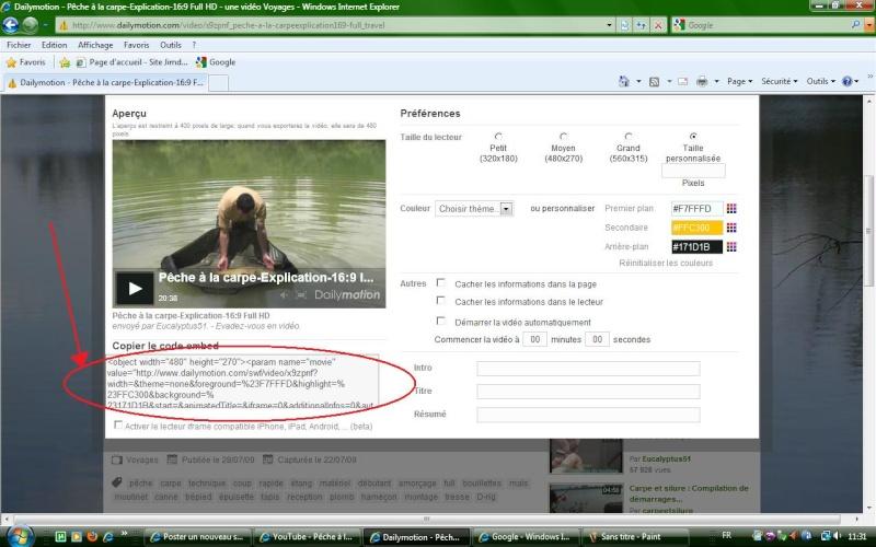 Mettre des videos sur le forum For210
