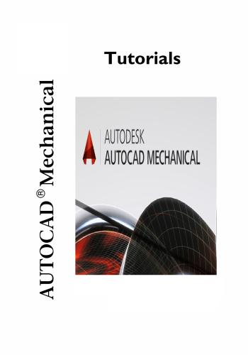 كتاب AutoCad Mechanical Tutorial A_c_m_16