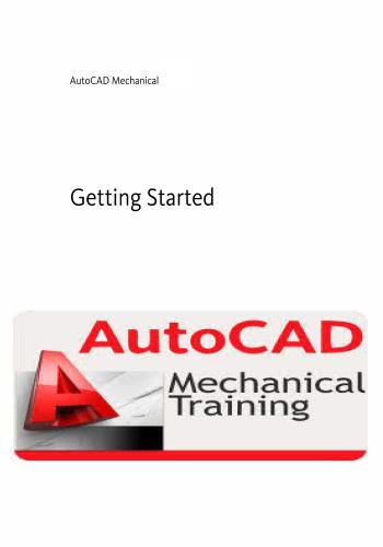 كتاب AutoCAD Mechanical Getting Started A_c_m_18