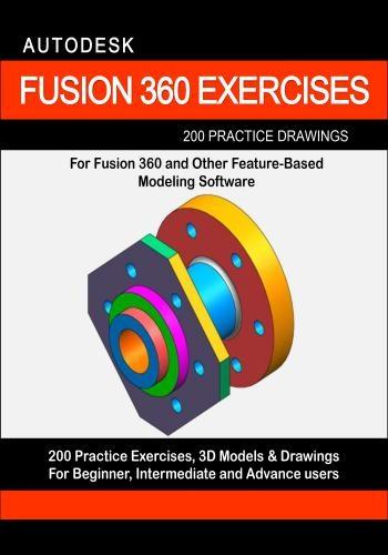 كتاب Autodesk Fusion 360 Exercises - 200 Practice Drawings  A_f_3_10