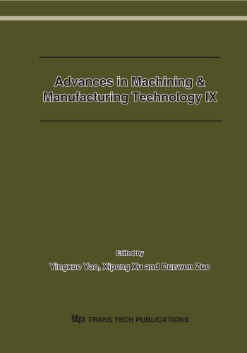 كتاب Advances in Machining & Manufacturing Technology IX  A_i_m_18