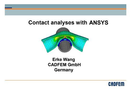 كورس تعليم برنامج الأنسس - Contact Analyses with ANSYS C_a_w_11