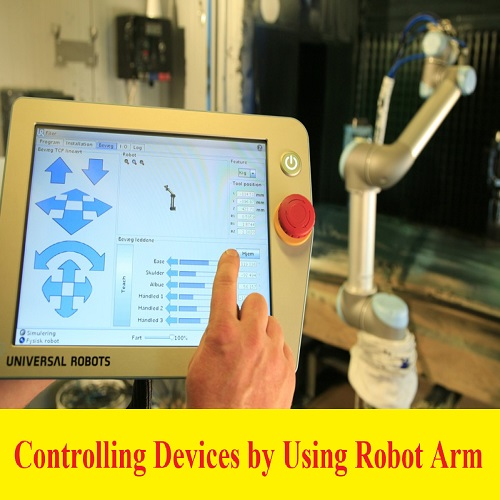 بحث بعنوان Controlling Devices by Using Robot Arm  C_d_b_10