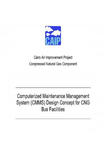 كتيب بعنوان Computerized Maintenance Management System (CMMS) Design Concept for CNG Bus Facilities  C_m_m_10