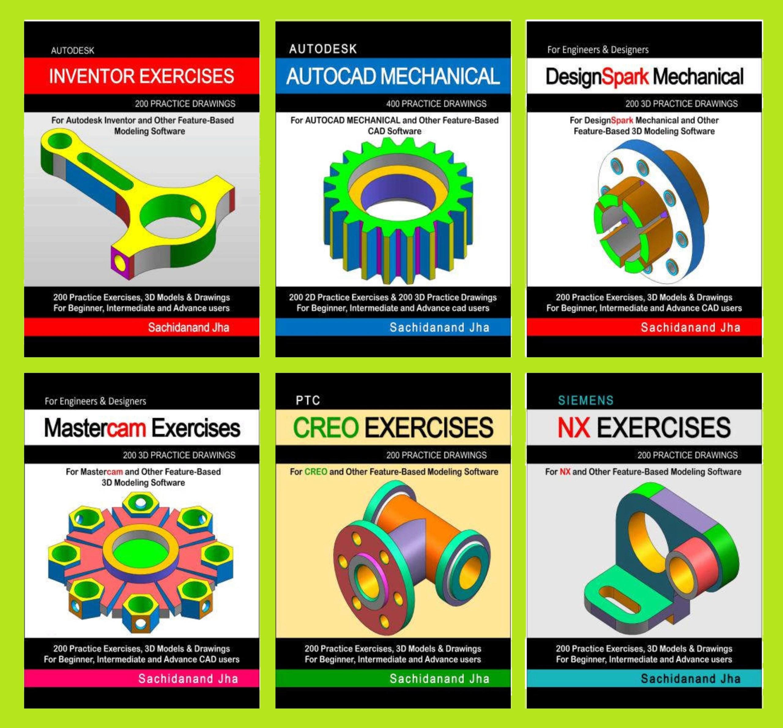 أكبر تجميعة لكتب تمارين على البرامج الهندسية المختلفة - CAD Exercises Cad_ex10