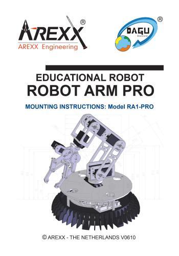 كتاب Educational Robot - Robot Arm Pro - Mounting Instructions - Model RA1-PRO E_r_r_10