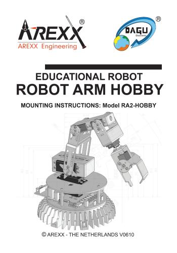 كتاب Educational Robot - Robot Arm Hobby - Mounting Instructions - Model RA2-HOBBY E_r_r_12