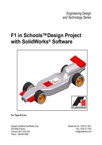 كتاب F1 in Schools Design Project with SolidWorks Software  F_1_s_10