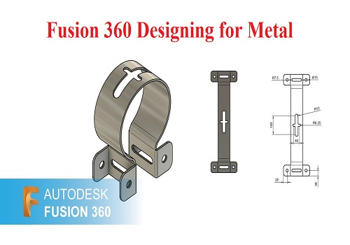 كورس التصميم المعدني باستخدام برنامج فيوجن - 360 Fusion 360 Designing for Metal F_3_6_10
