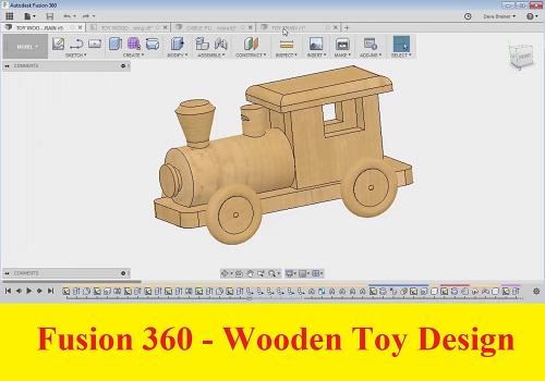 كورس تصميم الألعاب الخشبية باستخدام برنامج فيوجن 360 - Fusion 360 - Wooden Toy Design F_3_6_16