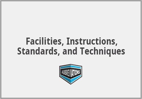 بحث بعنوان Facilities Instructions, Standards, & Techniques   F_b_l_10