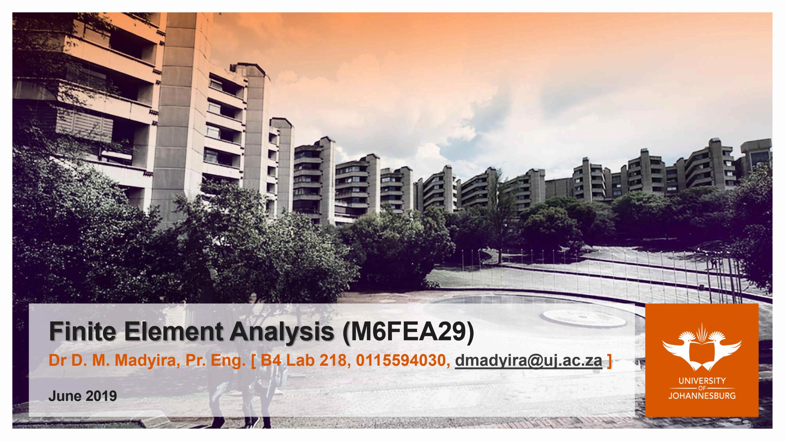 محاضرة بعنوان Finite Element Analysis F_e_a_19