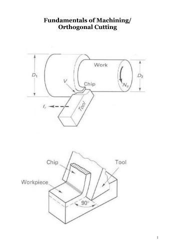 كتيب بعنوان Fundamentals of Machining Orthogonal Cutting F_m_o_10