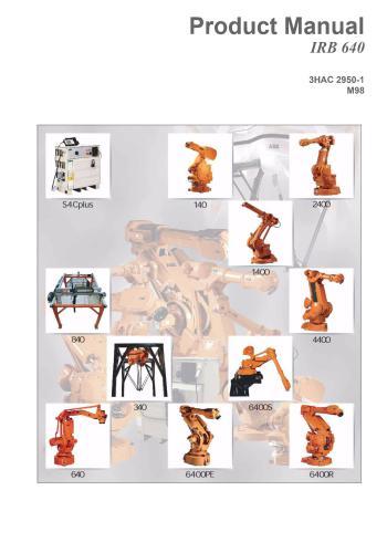 كتالوج 3HAC 2950-1, IRB 640 & M98 Robot Product Manual H_a_c_10