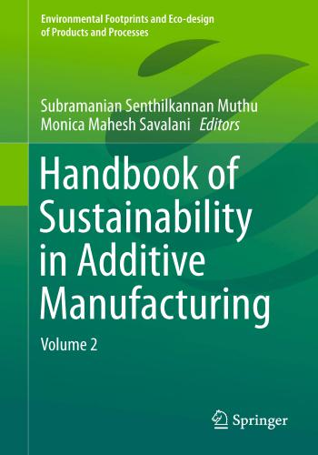 كتاب Handbook of Sustainability in Additive Manufacturing - Volume 2  H_b_o_15