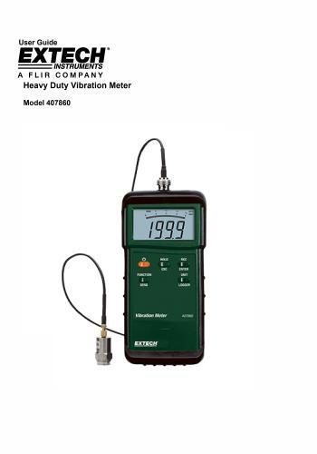 كتالوج Heavy Duty Vibration Meter Model 40786 User Guide  H_d_v_10