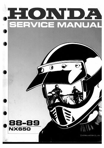 كتالوج Honda NX 650 1988-1989 Service Manual  H_n_x_10