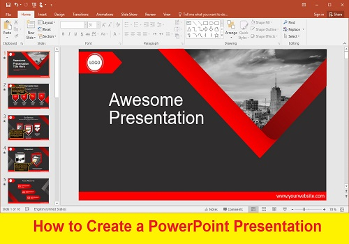 كتيب بعنوان How to Create a PowerPoint Presentation H_t_c_10