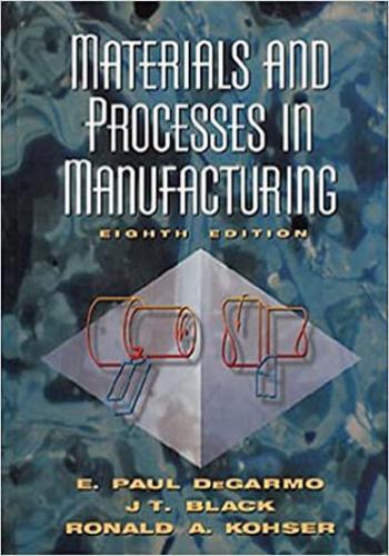 حل كتاب  Materials and Process in Manufacturing - Solutions Manual M_a_p_10