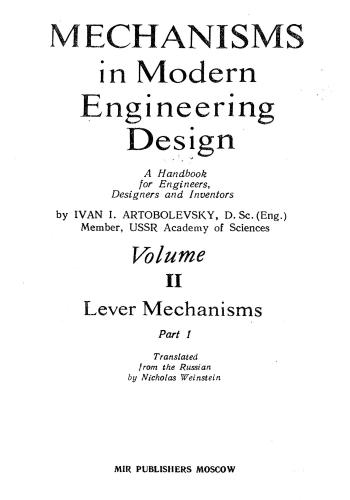 كتاب Mechanisms in Modern Engineering Design Vol II Part 2  M_i_m_13