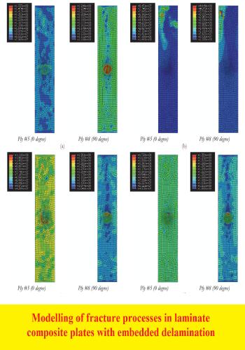 بحث بعنوان Modeling of fracture processes in laminate composite plates with embedded delamination  M_o_f_10