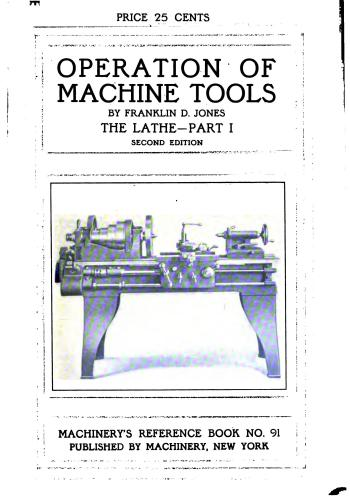 كتاب Operation of Machine Tools - Part I  M_r_s111