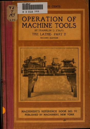 كتاب Operation of Machine Tools - Part II  M_r_s113