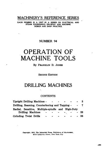 كتاب Operation of Machine Tools - Drilling Machines  M_r_s115