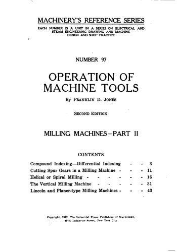 كتاب Operation of Machine Tools - Milling Machines - Part II  M_r_s118