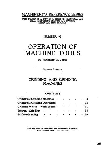 كتاب Operation of Machine Tools - Grinding and Grinding Machines  M_r_s119