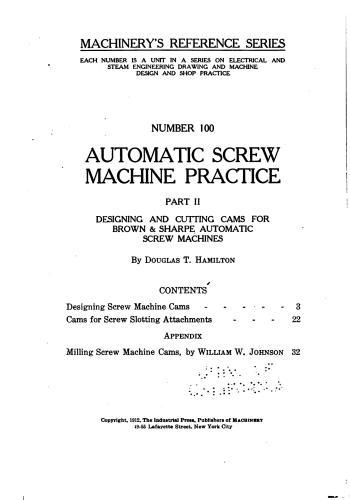 كتاب Automatic Screw Machine Practice - Part II  M_r_s121