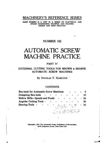 كتاب Automatic Screw Machine Practice - Part IV  M_r_s122
