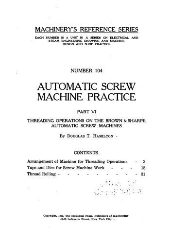كتاب Automatic Screw Machine Practice - Part VI  M_r_s125