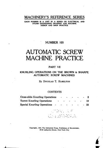 كتاب Automatic Screw Machine Practice - Part VII  M_r_s126