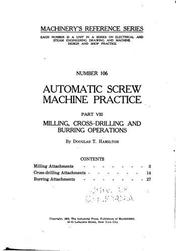 كتاب Automatic Screw Machine Practice - Part VIII  M_r_s127