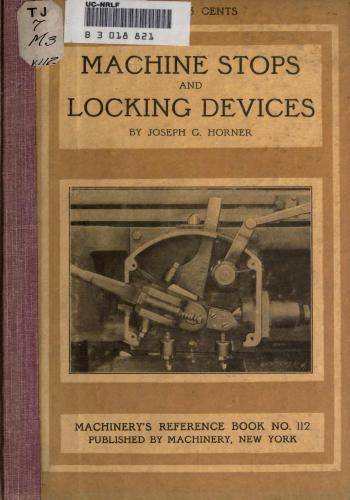 كتاب Machine Stops, Trips and Locking Devices  M_r_s131