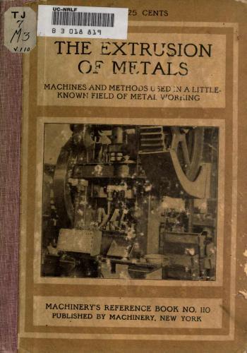 كتاب The Extrusion of Metals  M_r_s133