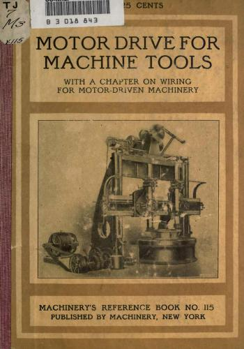 كتاب Electric Motor Drive for Machine Tools  M_r_s136