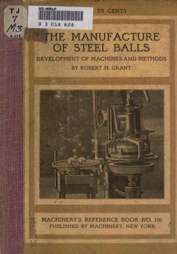 كتاب The Manufacture of Steel Balls  M_r_s137