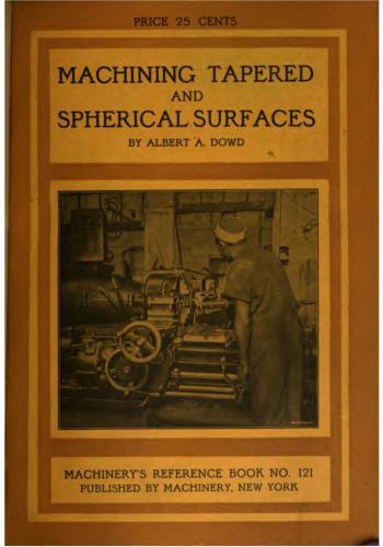 كتاب Machining Tapered and Spherical Surfaces  M_r_s142