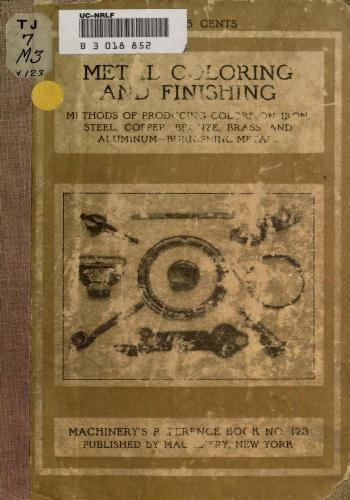 كتاب Metal Coloring and Finishing  M_r_s144
